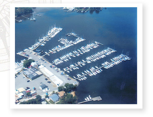 Aerial View of Whtie Rocks Marina